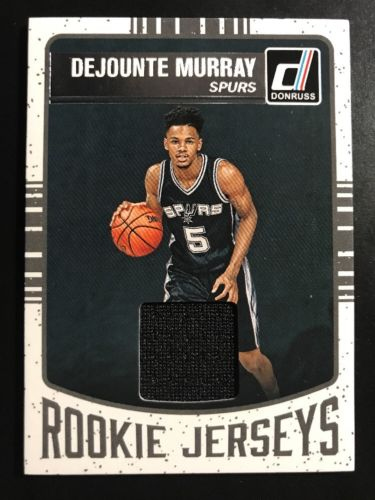 2016-17 PANINI DONRUSS (BKB) Dejounte Murray SP ROOKIE JERSEYS RC CHASE CARD #22