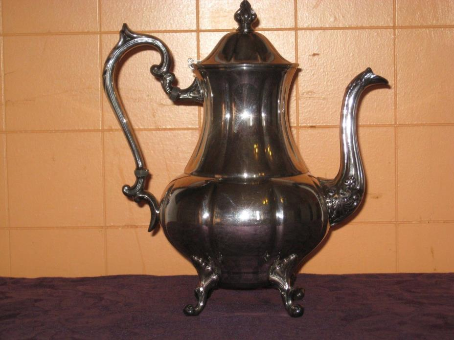 VTG Sheridan Silver Co Teapot Pitcher Silver on Copper Crown S Shield Hallmarks