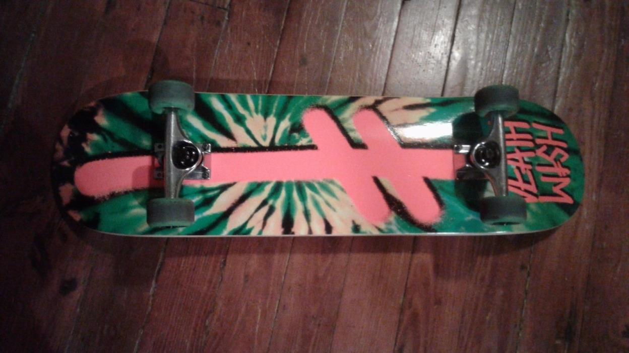 Deathwish - Gang Logo - Tye Dye - Custom -  Complete Skateboard