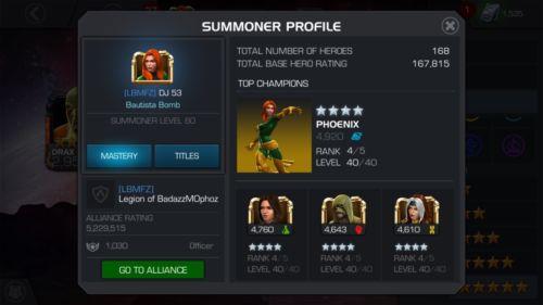 Mcoc Account 170k