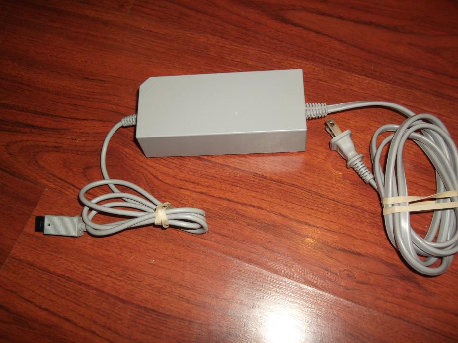 Original Nintendo Wii Power Adapter - Tested & Works Great! Clean