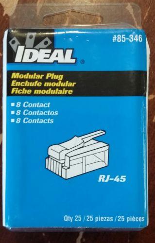 Ideal 85-346 RJ-45 CAT 5e Modular Plugs 25pcs