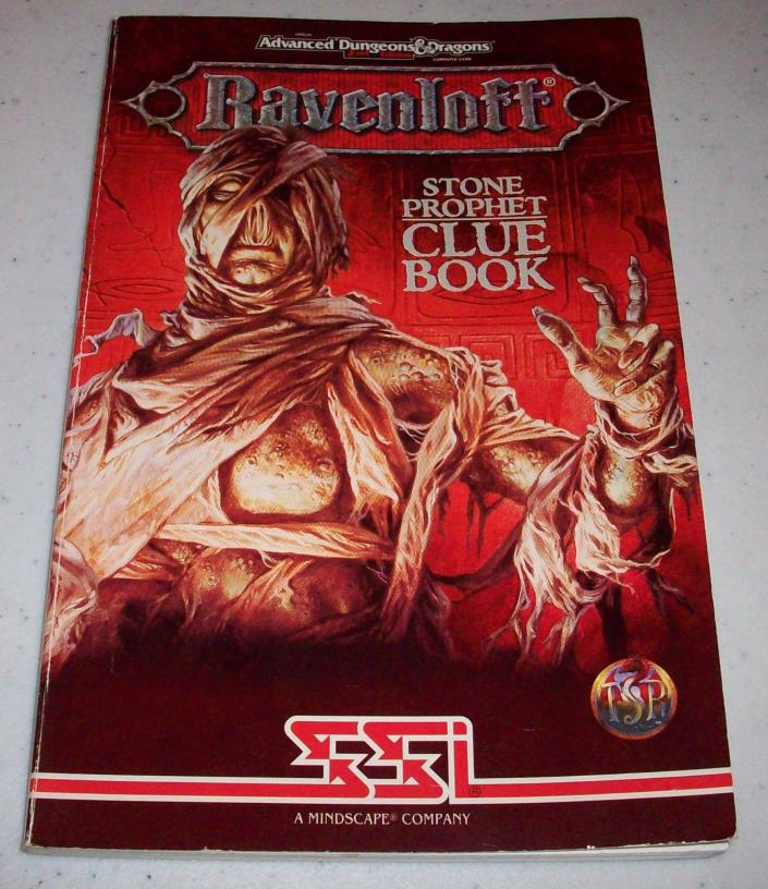SSI Advanced Dungeons & and Dragons Ravenloft Stone Prophet Clue Book hint guide