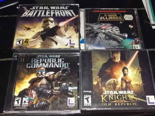 Star Wars PC Game Lot - 4 Games - All Great Condition