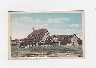 VINTAGE 1921 POST CARD OLD FAITHFUL INN YELLOWSTONE PARK