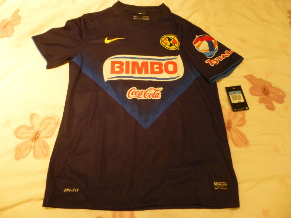 Vintage Nike 2011/2012 Club America Blue Away Jersey (Men Size Small)