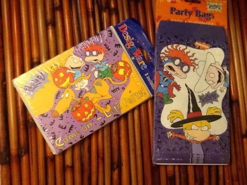 Rugrats Halloween Invitation & Party Bags Nick Jr Nickelodeon Pumpkin Witch