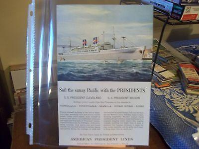 vintage print ad, 1956 American President Lines