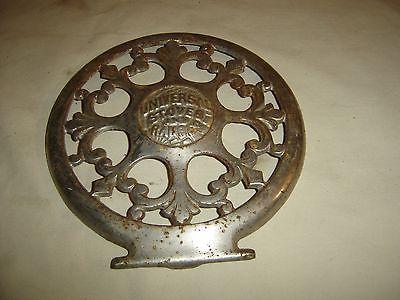 Antique Cast Iron Ornate Trivet for Universal Stoves & Ranges.9533