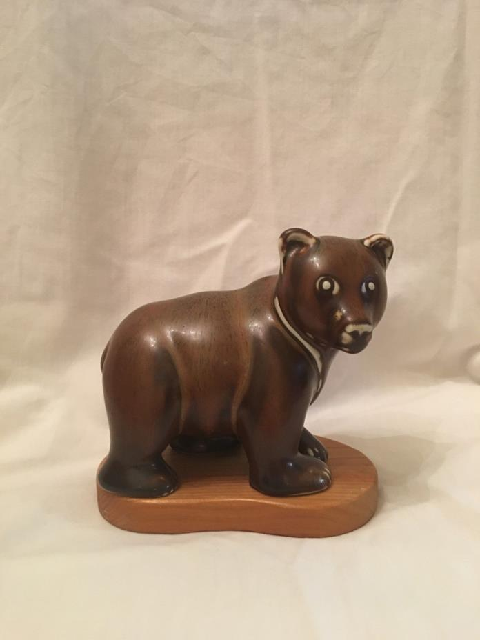 Gunnar Nylund Brown Bear Rorstrand Mid Century Scandinavian Pottery