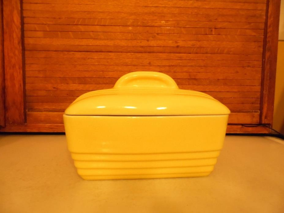 VTG YELLOW HALL Covered CASSEROLE DISH By WESTINGHOUSE