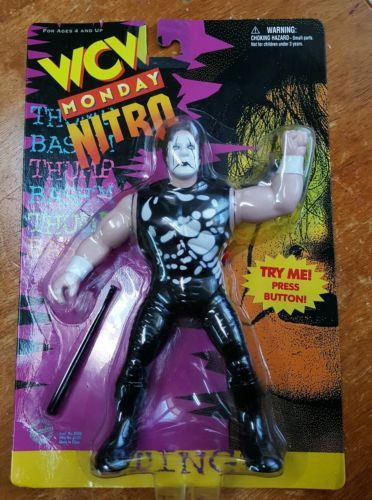 WWE WCW Sting Used wrestling figure OSFT Flashback Hall of Fame wwf tna nWo toy