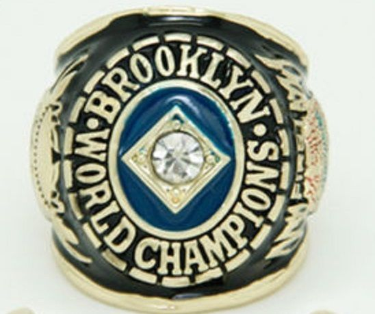 1955 BROOKLYN DODGERS WORLD SERIES CHAMPIONSHIP REPLICA RING JACKIE ROBINSON