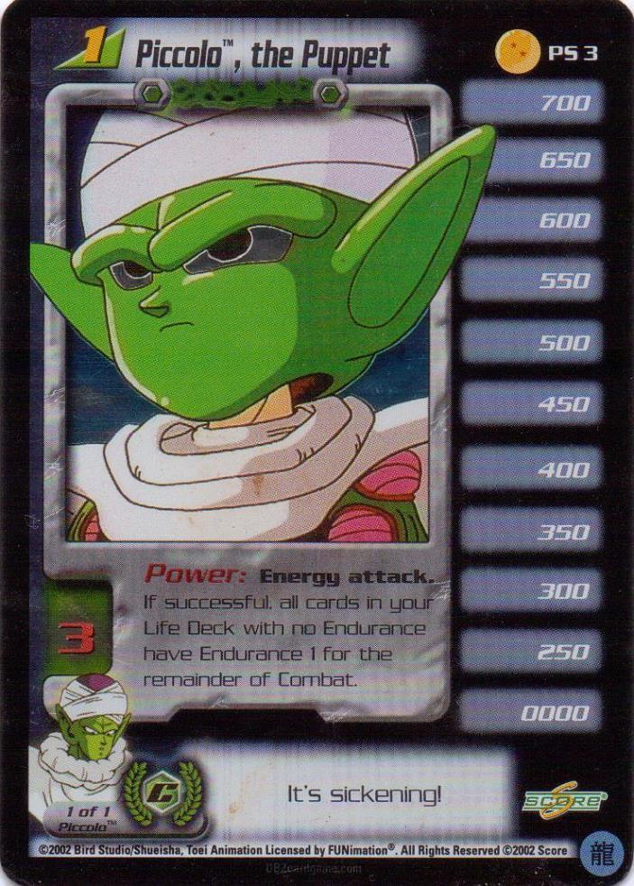 Dragonball Z GT DBZ CCG TCG Piccolo, the Puppet lvl 1 PS 3 FOIL 2 Star Promo