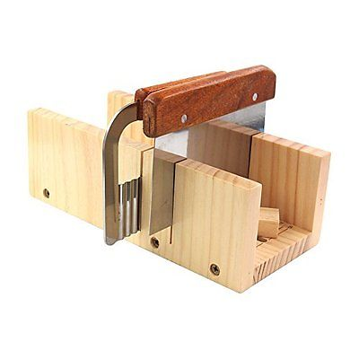 Biowow Adjustable DIY Soap Cutter Mold Wood Handmade Loaf Cutter with 2pc Plane