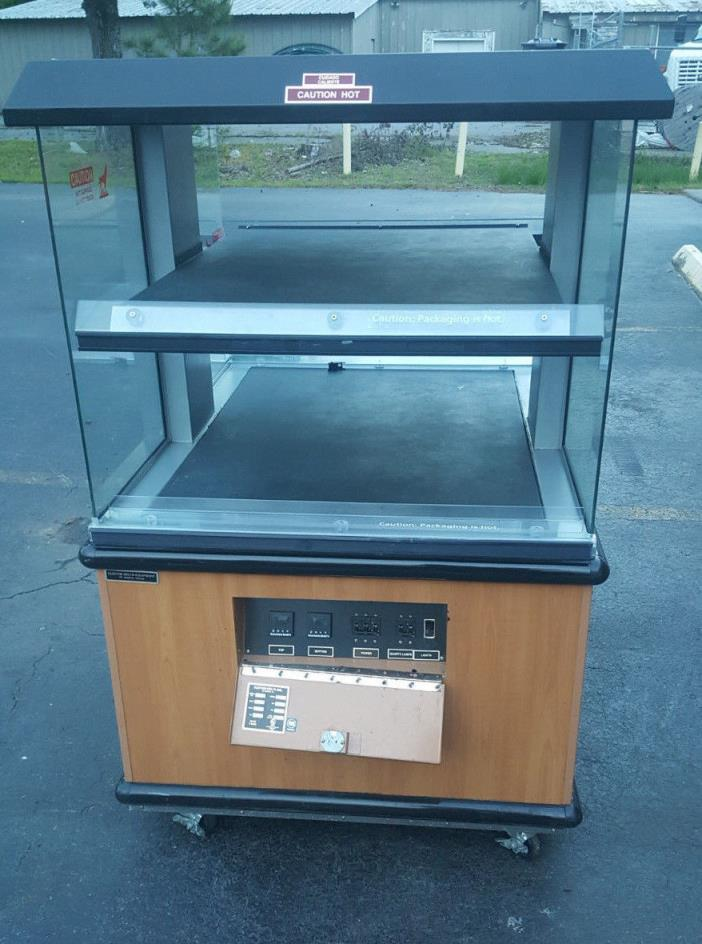Custom Deli Inc DILW4H Dual Shelf Hot Food Merchandiser Heated Display Case