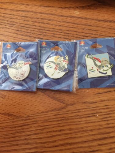 Set Of Three 2002 Salt Lake Para Olympic Mascot Pins