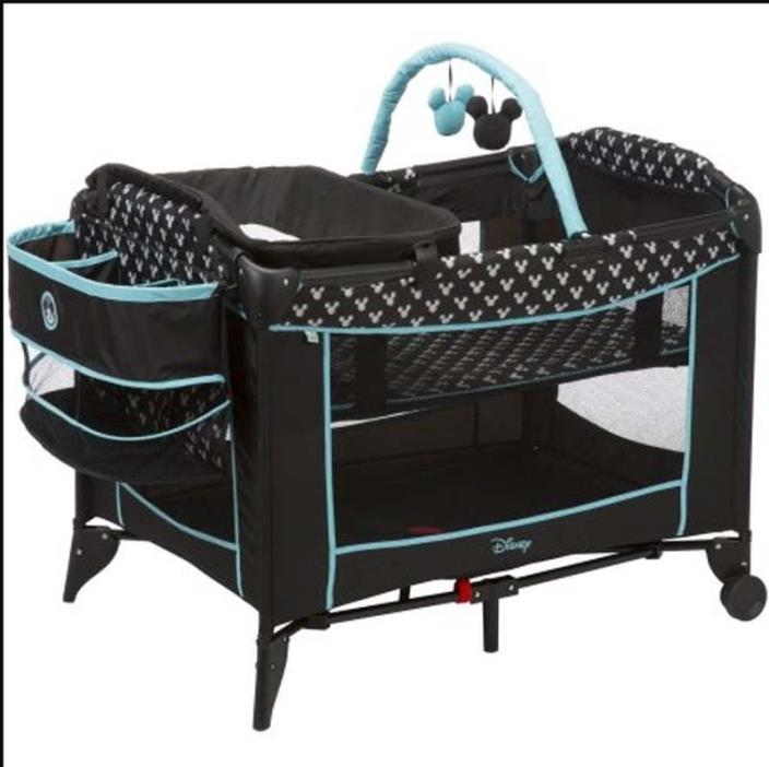 Portable Playard for Baby Disney Sweet Wonder Mickey Shadow Crib Bassinet