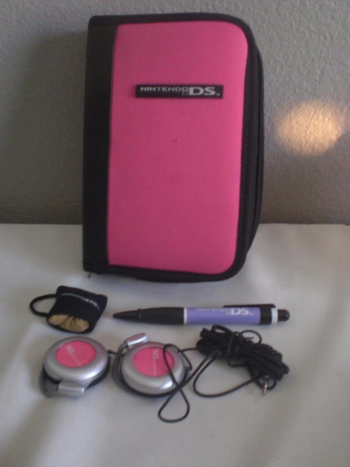 Carrying Case for Nintendo DS - Red +ear phones+pen+13 Games