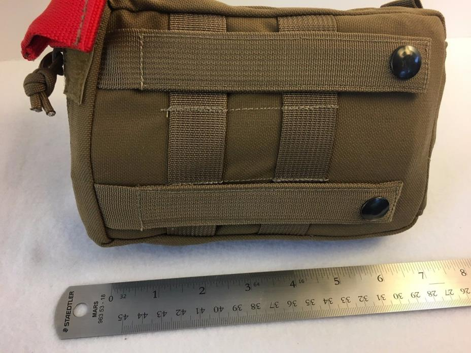 Zulu Gear MOLLE first aid kit with supplies: chest seal, tourniquet, airway