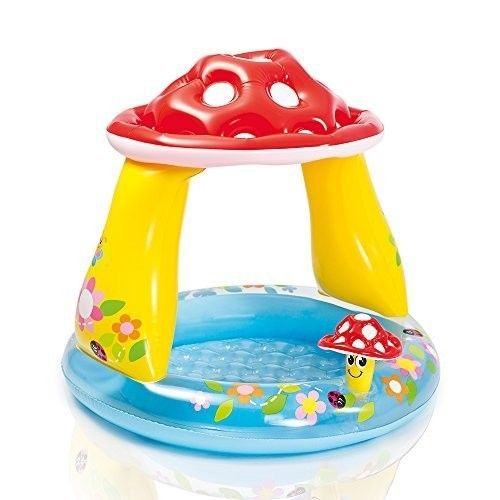 Baby Pools Inflatable Pool Toy Mushroom Backyard Garden Kids Water Fun
