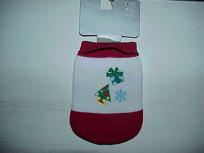Dog puppy apparel clothing Christmas pattern sweater warm lovely New XS