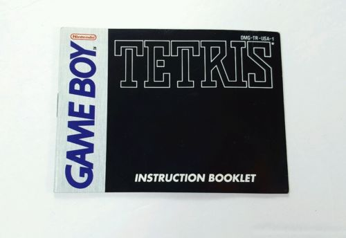 Tetris - INSTRUCTION MANUAL ONLY - Book Booklet Nintendo Game Boy GB
