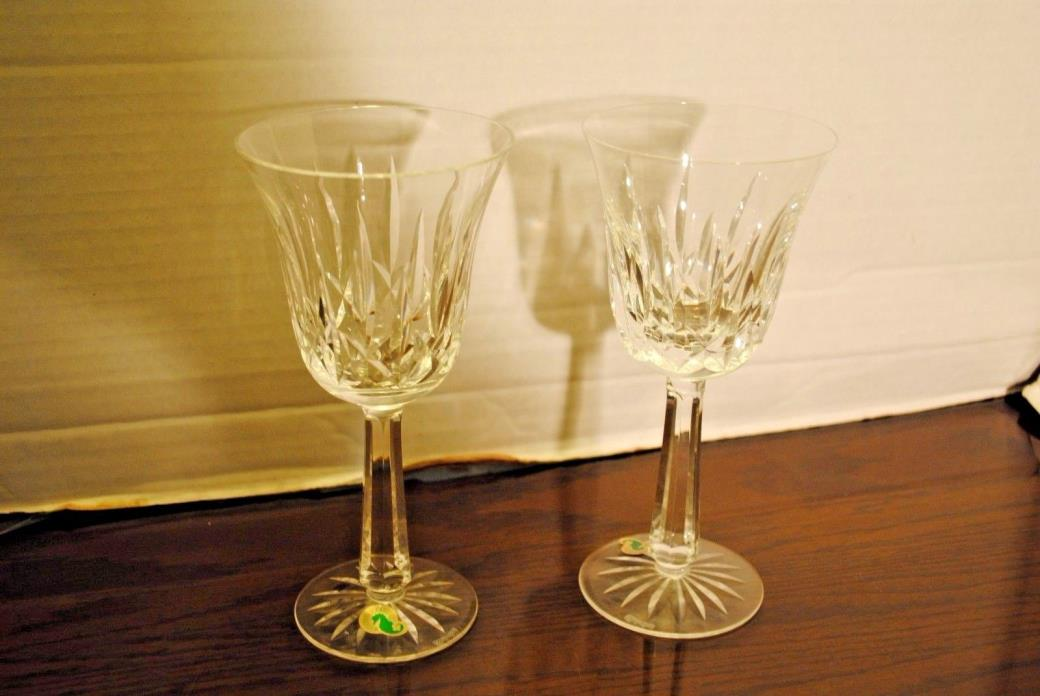 2 Waterford Crystal Footed Water Goblet about 81/4  inches tall