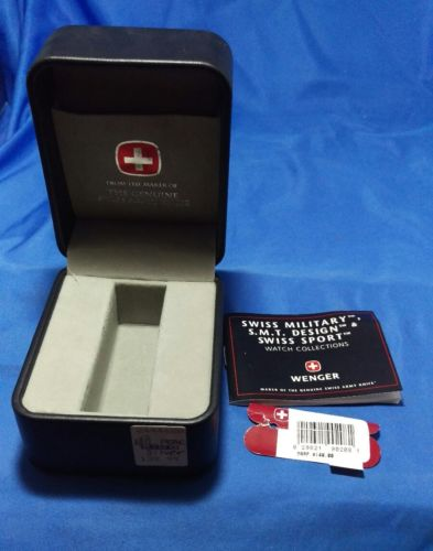 Rare Wenger Swiss Army Knife Watch Box ONLY
