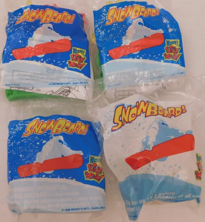 Wendys 1999 Snowboard Toys lot of 4 toys Sealed