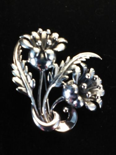 Vintage Sterling Silver Tulip Flower pin/brooch