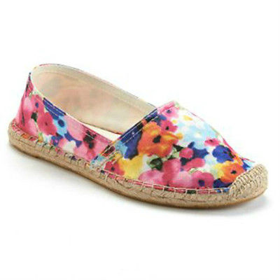 New SO Cabana Floral Womens Slip On Shoes Size:9