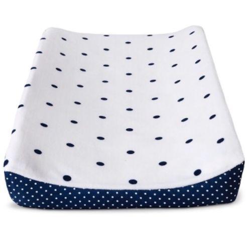 Circo Blue White Plush Dot Baby Changing Pad Cover Nwop