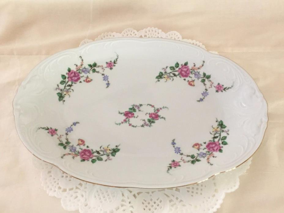 Oval Scalloped Serving Platter - Royal Kent China Collection-(Poland) RKT23
