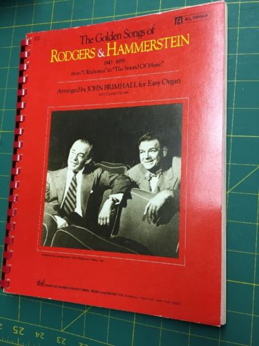 The Golden Songs Of Rogers And Hammerstein 1943 To 1959 Organ Vocal Music Guitar
