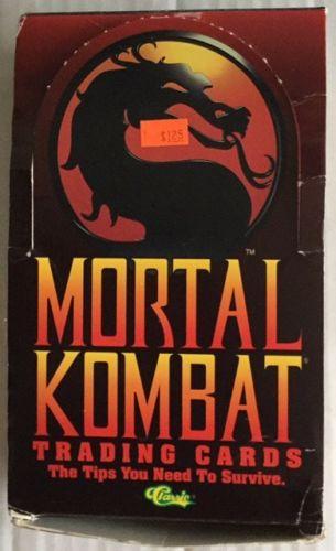Mortal Kombat Trading Card Packs by Classic SNES Sega Mortal Combat - 17 Packs
