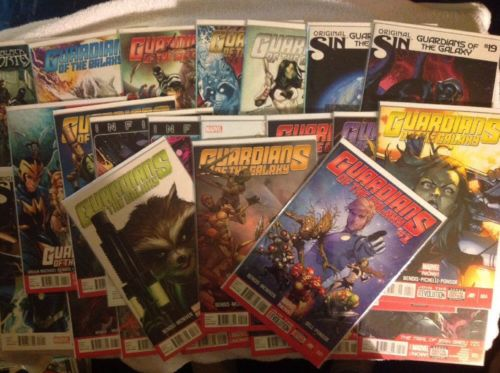 Guardians of the Galaxy comics 1-24, Annual 1 Rocket Raccoon, Groot, Star Lord