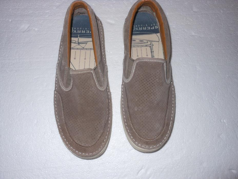 SPERRY TOP-SIDER SHOES MEN'S 7 MED LOAFER BOAT SHOE BROWN SIZE