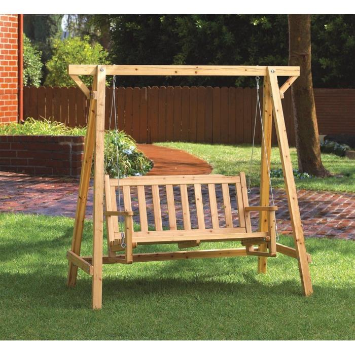 Garden Swing In Oil and Lacquer Finish