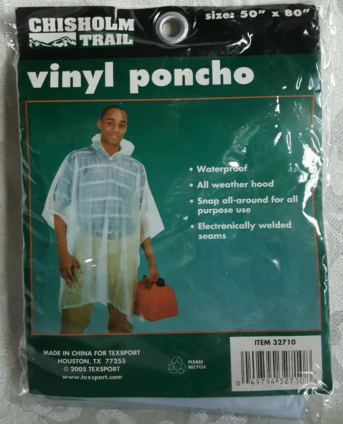 Texsport Dry Vinyl Poncho Clear 80