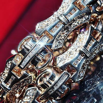 Joe Rodeo 14k yellow gold bracelet 4.75ct diamond 8.75