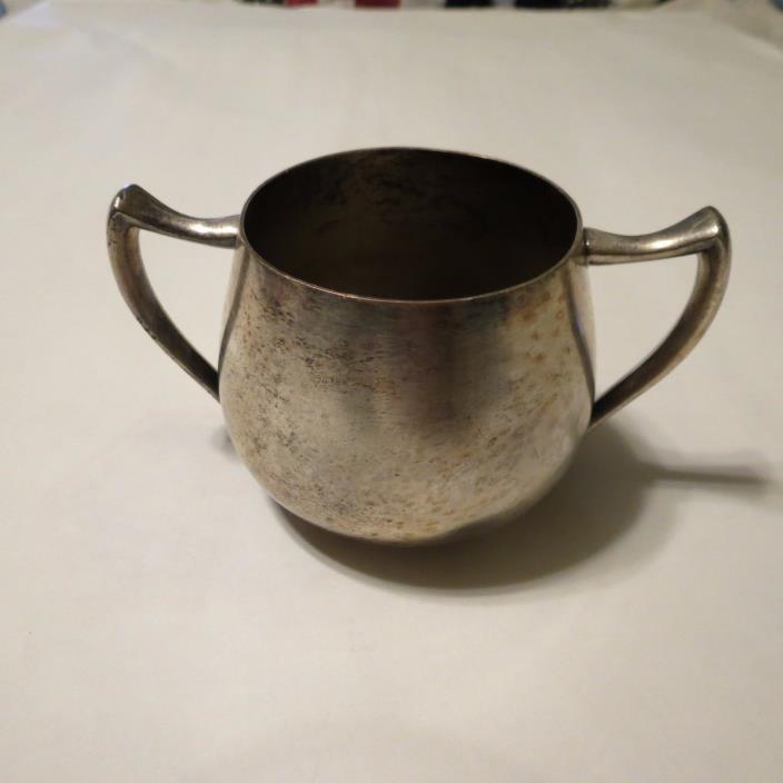 Vintage Broger Silver Co. # 1082 Silver on Copper Creamer