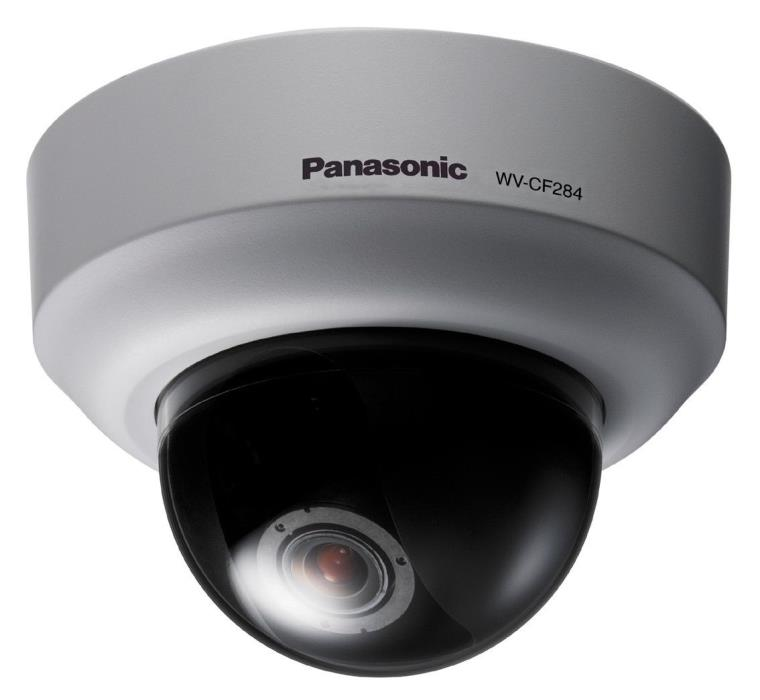 Panasonic WV-CF284 Compact Color Dome Camera with 2x Vari-Focal Lens, 540 Lines