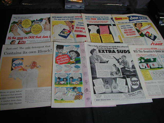 lot of 46 laundry soap magazine ads 1919 to 1968 dish soap duz cheer tide joy ad