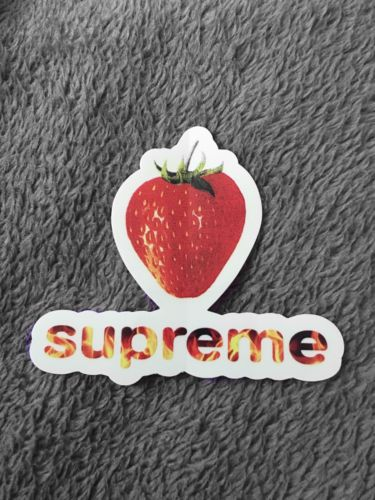 Supreme Strawberry Sticker