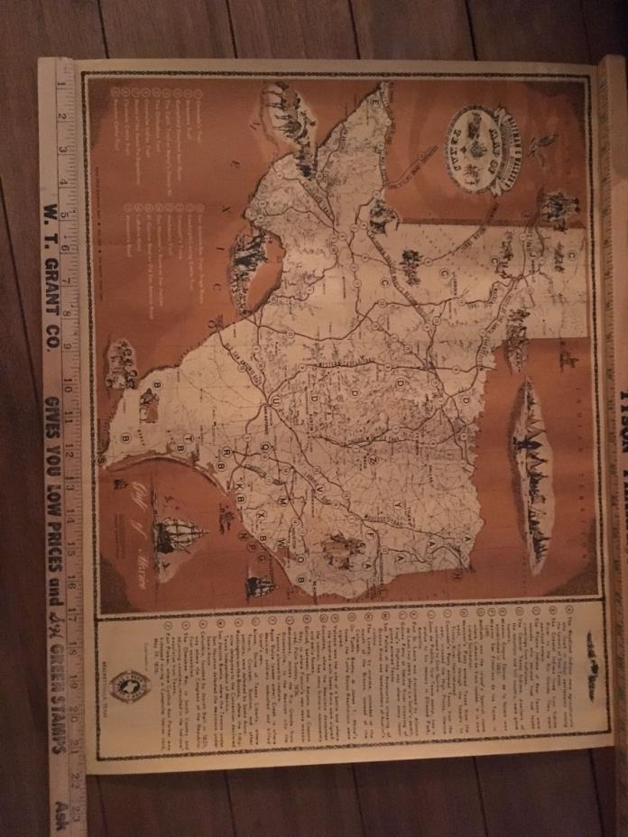 unframed map of Texas. Hoffman and Walker's Texas State Historical Map. 17X22