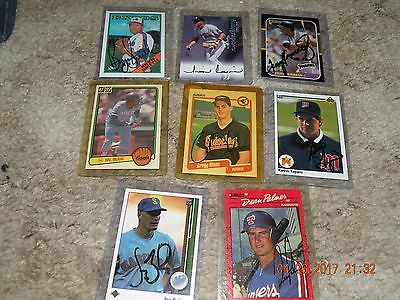 (8) Autographed Baseball Cards