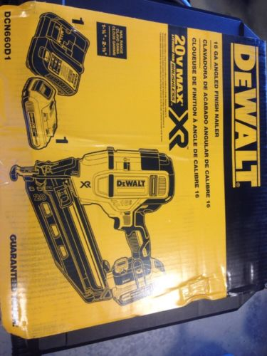DEWALT DCN660D1 16 GA ANGLED FINISH NAILER 20V Max XR FACTORY SEALED