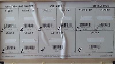 Quantity 33 - Hillman Group - Elevator Bolts 1/4-20 Thru 3/8-16 Diameter