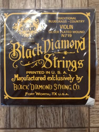 Vintage Black Diamond Traditional Bluegrass, Country, Violin Strings